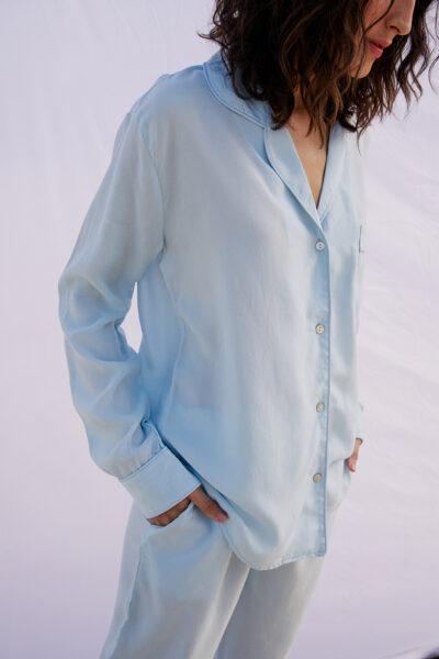 Azul-Celeste Vegan Silk